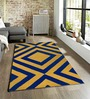 Santos Carpet in Blue and Yellow by CasaCraft