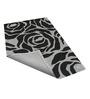 Sofiabrands Grey & Black Woolen 96 x 60 Inch Floral Carpet