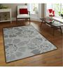 Sofiabrands Grey Wool Floral Hand Tufted Carpet