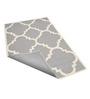 Sofiabrands Grey Wool 96 x 60 Inch Hand Tufted Stripes & Checks Carpet