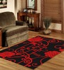 Sofiabrands Red Wool Floral Carpet