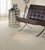 Sofiabrands White Wool 30 x 30 Inch Low Pile Round Solid Carpet