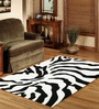 Sofiabrands Black Wool Abstract Carpet