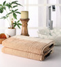 Softweave Beige Cotton 28 x 55 Bath Towel - Set of 2