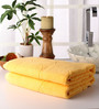 Softweave Yellow Cotton 28 x 55 Bath Towel - Set of 2