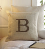 Solaj Brown Cotton 16 x 16 Inch Embroidery Cushion Cover