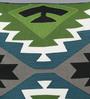 Solaj Multicolour Cotton 18 x 18 Inch Print & Embroidered Cushion Cover