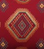 Solaj Red Cotton 18 x 12 Inch Embroidery Cushion Cover