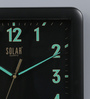 Solar Black Plastic 11 x 2 x 11 Inch Night Glow Wall Clock