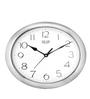 Solar Silver Plastic 11 Inch Round Gloom Wall Clock