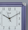 Solar Purple Plastic 10 x 2 x 10 Inch Simple Wall Clock