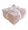 Amber Brown Cotton Face Towel - Set of 8