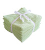 Amber Green Cotton Face Towel - Set of 8