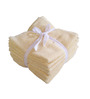 Amber Yellow Cotton Face Towel - Set of 8