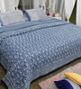 Soma Blues Nature & Florals Cotton King Size Quilt 1 Pc