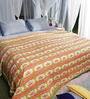 Soma Yellows Indian Ethnic Cotton King Size Quilt 1 Pc