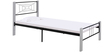 Spider Wrought Iron Single Bed in White Colour by Evok