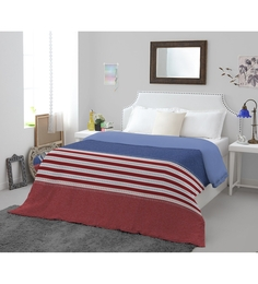 Spaces Blue Cotton & Polyester King Size Youthopia Duvet Cover 1 Pc