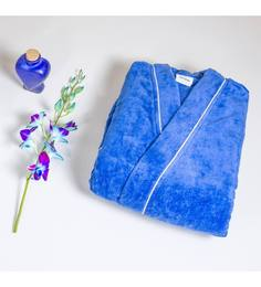 Spaces Enrobe Blue Cotton S Bath Robe
