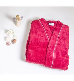 Spaces Enrobe Red Cotton L Bath Robe