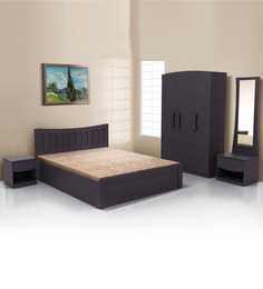 Spacewood Lexus Bedroom Set (Queen Size Box Bed + 3 Door Wardrobe + Bedside Table + Dressing Table)