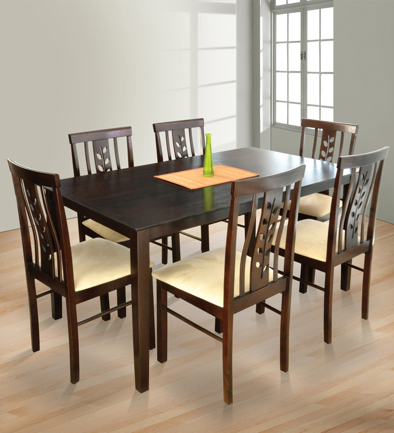Spacewood alfa tulip 6 seater dining table by spacewood for 6 seater dining room table and chairs