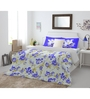 Spaces Blue Cotton King Size Intensity Bedsheet - Set of 3