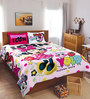 SPACES Disney Minnie Pink Double Bedsheet with 2 Pillow Cover