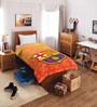 SPACES FCB Crest Orange Cotton Single Comforter