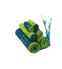 Spaces Green and Teal Cotton Bath, Hand, Face Towel - Set of 6
