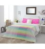 Spaces Pink Cotton Queen Size Allure Bedsheet - Set of 3
