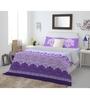 Spaces Purple Cotton King Size Intensity Bedsheet - Set of 3