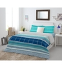 Spaces Teal-Blue Cotton King Size Intensity Bedsheet Set of 3