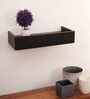 Heriberto Contemporary Wall Shelf in Natural Wenge by CasaCraft