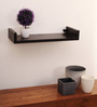 Guilermo Contemporary Wall Shelf in Natural Wenge by CasaCraft