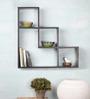 Virgilio Contemporary Wall Shelf in Brown by CasaCraft
