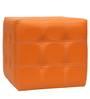 Spazio Classic Tufted Ottoman in Orange Colour by SIWA Style