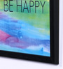 Speaking Frame Wood & Acrylic 8 x 8 Inch Be Happy Framed Poster