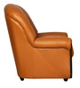 Spectra One Seater Sofa in Brown Leatherette by Sofab