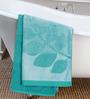 ESPRIT Leaves Blue Cotton Hand Towel