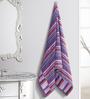 ESPRIT Striped Purple Cotton Hand Towel
