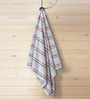 ESPRIT Striped Gray Cotton Hand Towel
