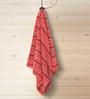 ESPRIT Striped Red Cotton Hand Towel