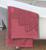 ESPRIT Contemporary Red Cotton Hand Towel