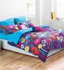 Esprit Home Floating Flowers Multicolour 100% Cotton Abstract Bed Sheet