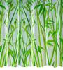 Spirella Bambus Green Polyester Shower Curtain