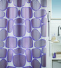 Spirella Purple Polyester Shower Curtain