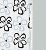 Spirella Follie Black Polyester Shower Curtain