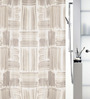 Spirella Agnese Yellow Polyester Shower Curtain