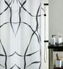 Spirella Black Polyester Shower Curtain